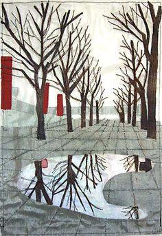 South Bank Trees by Melinda Schwakhofer | Little Gem Quilts