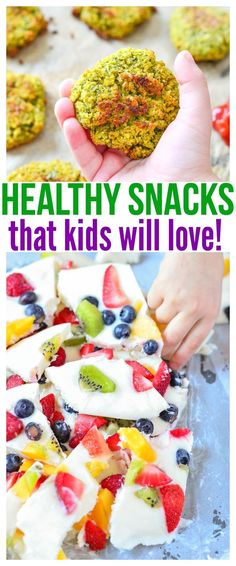 Whether you're looking for healthy snacks for kids on the go or healthy snacks for picky eaters at home, we have a ton of fun kid friendly recipes in this food round up that will definitely get praise from parents and kiddos! Healthy Bedtime Snacks, Healthy Kids, Healthy Snacks For Kids On The Go, Healthy Food, Healthy Lunches, Healthy Cooking, Dinner Healthy, Kid Friendly Healthy Breakfast, Healthy Recipes For Kids