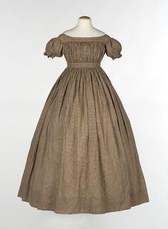 Quaker girl's dress, 1850's, American.