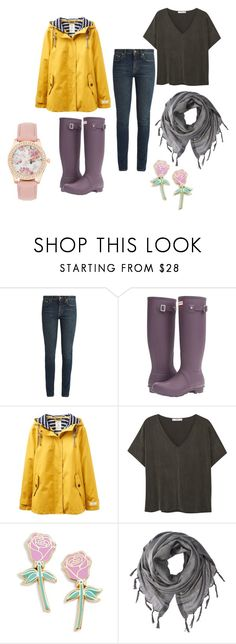 """""""Rainy Day"""" by ncis1218 ❤ liked on Polyvore featuring Yves Saint Laurent, Hunter, Joules, MANGO, Big Bud Press and Love Quotes Scarves"""
