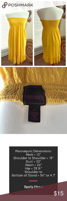 Bright Sun Dress For the relaxed summer style. Very bright yellow sun dress perfect for a bright summer day. Dresses