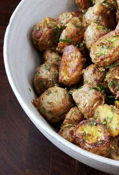 Parmesan cheese. Potatoes. Sorry, what was the question?
