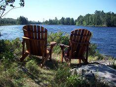 Remote cabins on White Iron Lake...