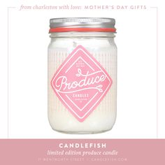 Limited edition seasonal Produce candle from Candlefish at 71 Wentworth Street in #Charleston.