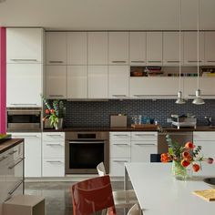 Modern kitchen with splashes of colour | Kitchen decoration | housetohome.co.uk