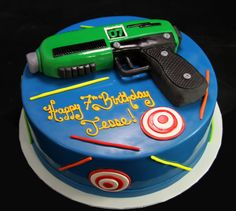 laser tag cake - Google Search