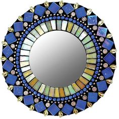 """Blue Iris Mirror 7"""" now featured on Fab."""