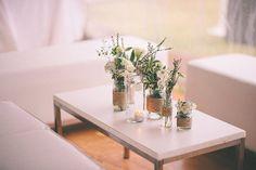 llike how she used regular jars & added twine around them  Tamika and Shaun's Romantic Northern NSW Wedding