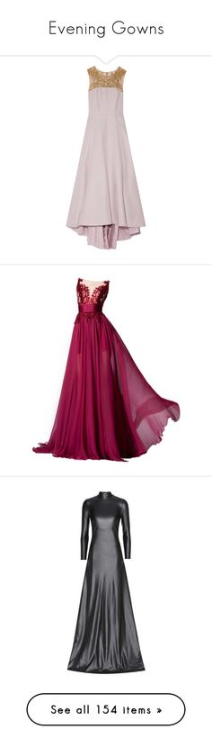 """""""Evening Gowns"""" by bleubeauty1 on Polyvore featuring dresses, gowns, lilac, pink sequin gown, pink evening dress, pink gown, sequin evening gowns, vintage sequin dress, long dresses and vestidos"""