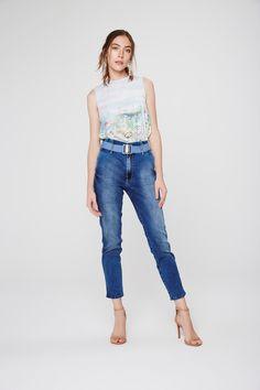 91f9a9a35 Calça Jeans Cropped Feminina - Damyller-smartphone