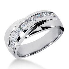 wedding bands for any setting   ... Wedding bands, 1CT diamond wedding bands,1ct Women's wedding band in #PlatinumWeddingRingsforWomen