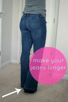 Adventures in Dressmaking: How to make jeans a little longer - with a hem facing!