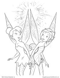 Tinker Bell and Periwinkle Coloring Page