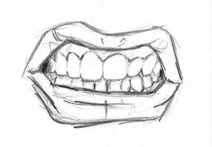 How to draw an angry mouth haha!