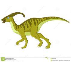 Cute Cartoon Baby Parasaurolophus Dinosaur Stock Vector - Image ...