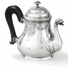 French Silver Teapot Joseph Riviere, Bordeaux 1750-51 | Sotheby's