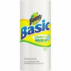 """Bounty Basic Paper Towels , 30 Rolls (PAG28318) by Bounty. $23.80. Quality perforated towel. Model: PAG28318. Economical. 1 ply.Unscented.Towel size: 10.40"""" x 11"""".52 towels per roll."""