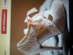 Beautiful vintage wedding shoes