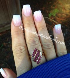 Baby boomer French nails, acrylic, acrylic nails, nail art, nails, gelish, nail artist