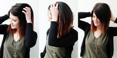 Short Ombre with dark brown and red. I want to do this . its not long but I would go for this short hair! (:
