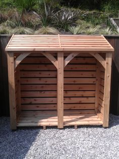 Individually handmade using Cedar wood, this log store is 6ft x 6ft (approx 183cm x 183cm) and costs £640 delivered constructed and ready to use.