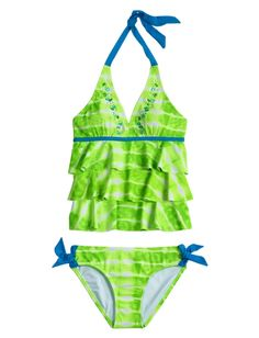 Justice Clothes for Girls Outlet | Girls Clothing | Tankinis | Green Tie Dye Tankini ... | Justice Cloth ...