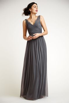 I love this one!  But it only comes in grey…thoughts? Fleur Dress in Bridesmaids View All Dresses at BHLDN