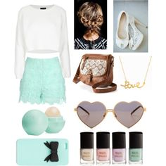 pastels by orsink on Polyvore featuring polyvore fashion style Topshop Jane Norman Mudd Minnie Grace Wildfox Eos H&M