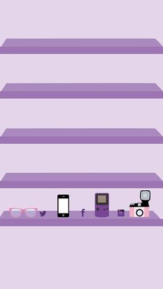 Gamer Love iPhone Wallpaper Shelves