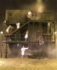 Money. Bermondsey Street site, London. Scenic design by Lizzie Clachan. 2010