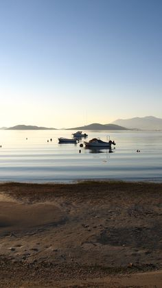 The calm sea in front of our house in Salamina Greece.