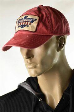 Ralph Lauren Denim & Supply Hats Mens Red Vintage Look Cap Baseball Hat NWT OSFA