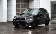 Télécharger fonds d'écran BMW X5 F15, 2017, topcar, Tuning X5, BMW noire, les croisements, les voitures allemandes, BMW