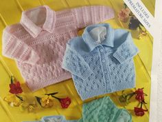 9129394b2 UK EU SELLER Vintage pdf knitting pattern lacy cardigan and hat set ...