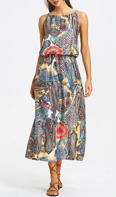 Up to 80% OFF! Elastic Waist Printed Maxi Dress. #Zaful #Dress Zaful,zaful dress,zaful outfits,black dress,dress,dresses,fashion,fall fashion,fall outfits,winter outfits,winter fashion,dress,long dress,maxi dress,long sleeve dress,flounced dress,vintage dress,casual dress,lace dress,boho dress, flower dresses,maxi dresses,evening dresses,floral dresses,long dresses,party dresses,gift,Christmas,ugly Christmas, New Year 2017, New Year Eve. @zaful Extra 10% OFF Code:ZF2017