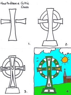 How to draw a Celtic cross