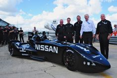 On display, Sebring, Florida, March 2012: the Nissan DeltaWing features front tires which are only 4 inches wide. The car will debut at this year's 24 Hours of Le Mans. Photo: Michelinalley.com Story by: Paul Ryan. 50% improvement in fuel mileage. #ALMS #greenracing