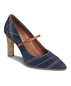 Aerosoles Navy Tax Return Suede Mary Jane | zulily