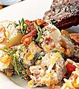 Loaded Baked Potato Salad from Rachel Ray -- I like her cooking so this is a must try Rachel Ray, Healthy Recipes, Great Recipes, Favorite Recipes, Healthy Foods, Edamame, Tilapia, Tahini, Food Truck