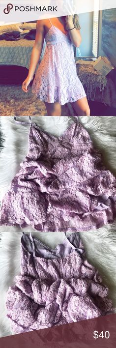 Lavender lace dress 🦄 NWT ✨ No trades/fast shipping Hollister Dresses