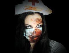 Zombi nővér - Zombie nurse | Halloween makeup Zombie Nurse, Halloween Makeup, Haloween Makeup