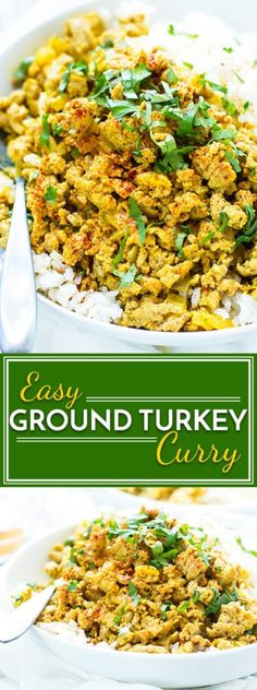 healthy food recipes chiken dinner cooking A ground turkey curry dish that is healthy, low-sugar, gluten-free and full of easy to find Indian spices. It makes a super easy lunch or dinner healthy dinner recipe. Indian Food Recipes, Healthy Dinner Recipes, Diet Recipes, Cooking Recipes, Crohns Recipes, Tilapia Recipes, Tofu Recipes, Mexican Recipes, Jelly Recipes