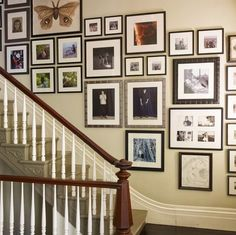 hanging art on a stairway