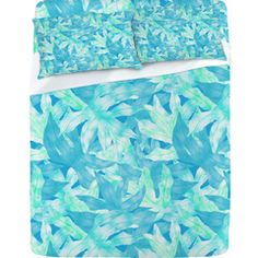 Aimee St Hill Aqua Leaves Sheet Set From $29