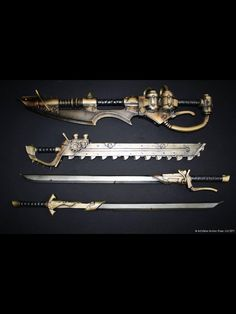 Awesome steampunk weapons!