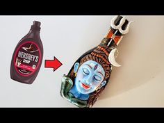 Shiva Sculpture/ How to sculpt a face/ shiva clay mural/Bottle art/ bottle craft Shiva, Wall Decor Crafts, Art Drawings Sketches Simple, Plastic Bottle Crafts, Bottle Painting, Mural Art, Bottle Design, Clay Crafts, Craft Videos