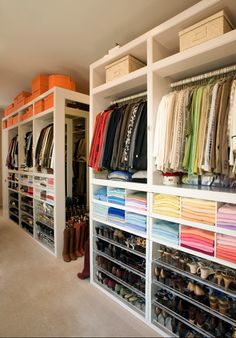 """Seeing all of these perfectly put together closets inspires me to get more organized this spring and reminds me to """"shop my own closet"""" just like Melanie Fascitelli, of luxury closet company Clo-sette, (where all of these images are from) recommends."""