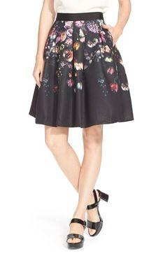 Ted Baker London 'Deniva' Floral PrintA-Line Skirt available at #Nordstrom