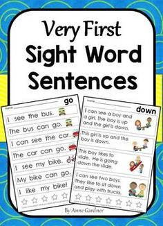 These sight word sentences are designed to help kids build confidence with early literacy skills. A high level of picture support is provided. Just one sight word is added on each page.