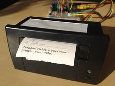 Thermal printers are a cheap, reliable way to create disposable paper documents. What happens when you connect them to the network? No one knows yet, but it's gonna be amazing.